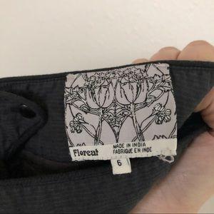 Anthropologie Skirts - Anthropologie Floreat Flower Gray Yellow Skirt